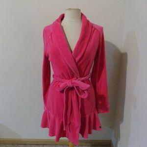 JUICY COUTURE Dark Pink Bath Robe, Medium